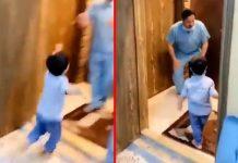 Video koji slama srca: Evo što je ovaj liječnik učinio kada mu je sin pojurio u zagrljaj