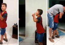 Gluhi dječak je čuo tatin glas, njegova reakcija tjera suze na oči