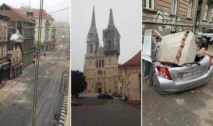 Nezapamćeni potresi u Zagrebu, otpao vrh katedrale