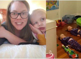 Mama ima genijalan trik s kojim smiruje kćeri prije spavanja