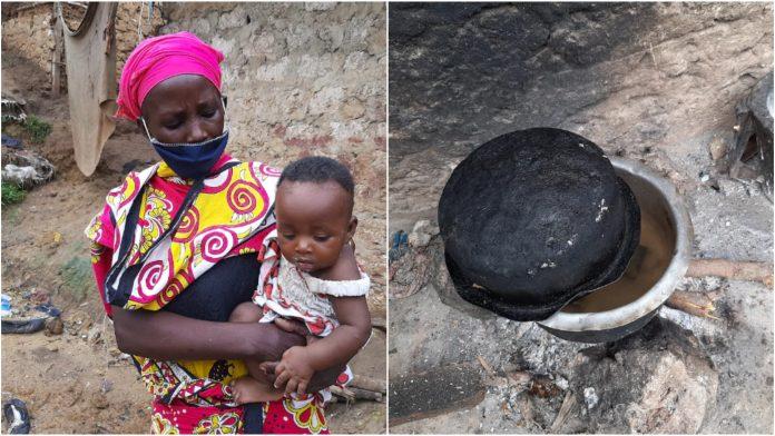 Majka kuha kamenje za svojih osmero djece