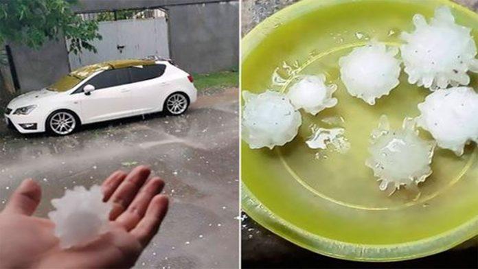 U Meksiku padao led u obliku koronavirusa