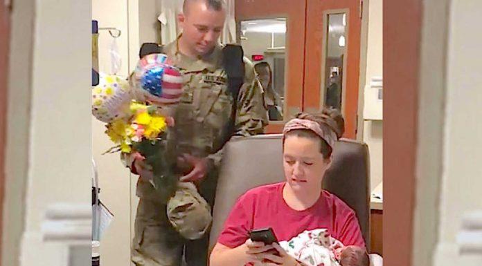 Žena je poslala poruku mužu vojniku da je rodila