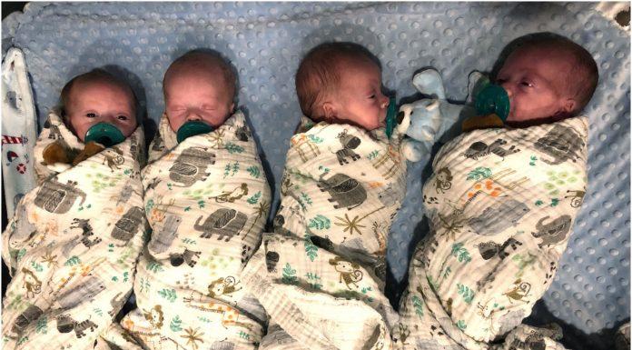 Majka rodila identične četvorke tijekom pandemije koronavirusa