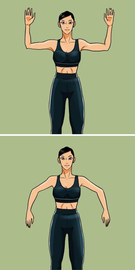 Vježbe za sagorijevanje kalorija - dlanovi dolje