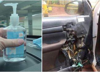 Sredstvo za dezinfekciju u automobilu
