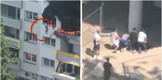 Dva brata su visjela s prozora zgrade, no živa su zahvaljujući njima