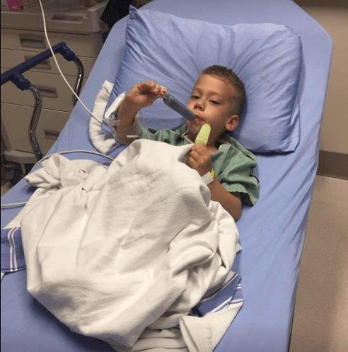 Dječak se žalio na bolove u grlu 2
