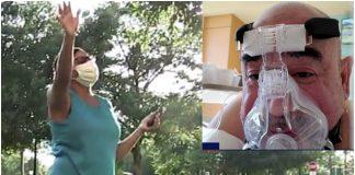 Žena svaki dan ispred bolnice moli za muža koji se bori s koronavirusom