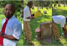 Tinejdžer s posebnim potrebama posjetio majčin grob kako bi joj rekao da je maturirao