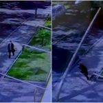 Božja ruka spriječila ulični stup da padne na ženu