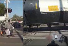 Čovjek u kolicima se zaglavio na pruzi, sekunde su ga dijelile od katastrofe