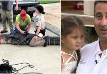 Hrabri otac spasio kćer (5) od napada aligatora dugog 3 metra