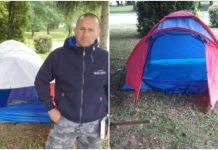 Otac bolesnog sina postavio šator ispred bolnice, ganuo je Hrvatsku