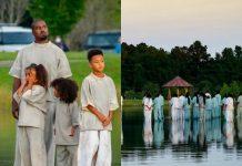 Kanye West i njegova djeca ''hodali po vodi'' tijekom službe