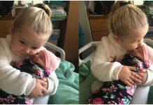 Djevojčica (3) je držala malu sestru u naručju, a onda joj izgovorila najljepše riječi