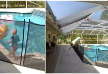 Dječak (1) je upao u bazen, a tatina reakcija je zapanjila svijet