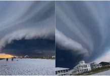 Nesvakidašnji oblaci potjerali ljude s plaže