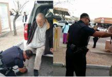 Policajac je prišao beskućniku, a prolaznik je sve snimio