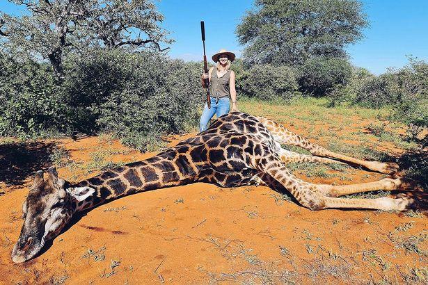 Žena s mrtvom žirafom