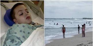Roditelji zahvaljuju Bogu jer im je zaštitio sina od napada morskog psa
