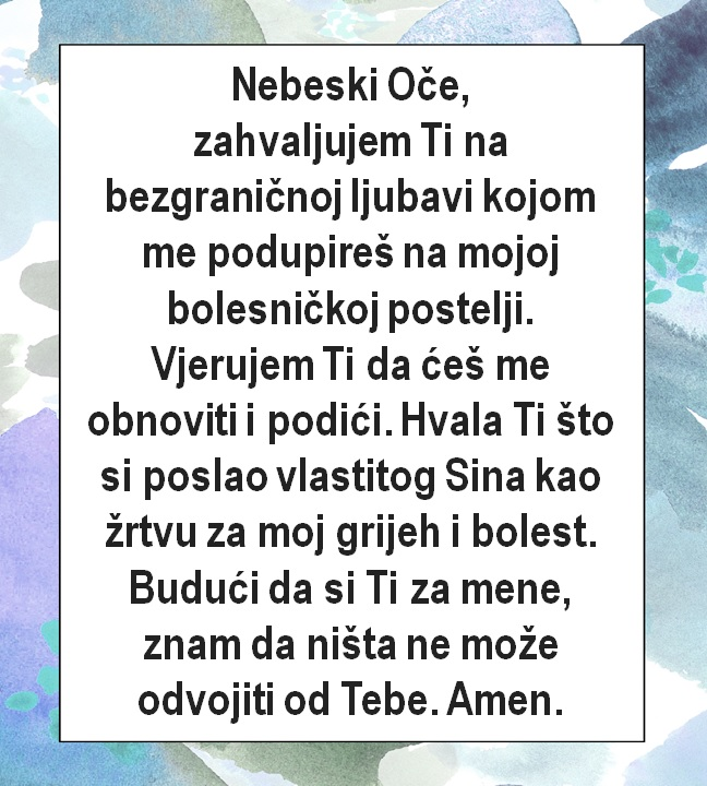 Molitva u bolesti