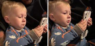 Dječakova reakcija slike roditelja