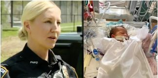 Novorđenče poplavilo policajka spasila život