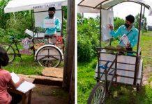 Njegovi učenici ne mogu pratiti nastavu na daljinu: Gvatemalski učitelj pedalira mobilnu školu za djecu