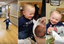 Dječak s Downovim sindromom prvi put vidio brata