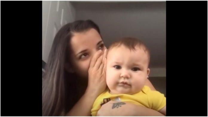 Mama nešto šapnula bebina reakcija