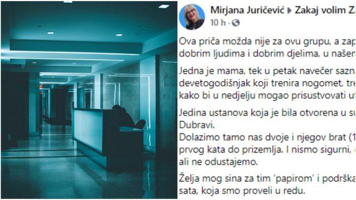 Mama opisala događaj iz poliklinike u Dubravi