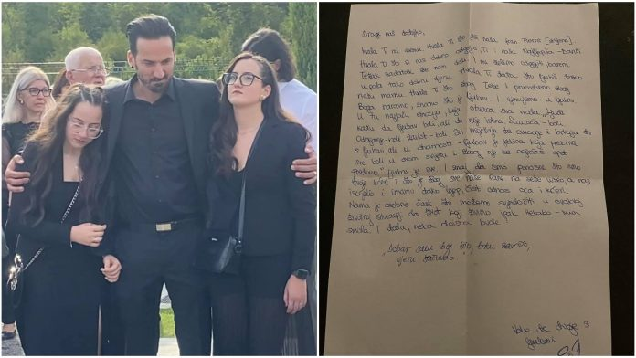 Marin Miletić objavio pismo kćeri napisale