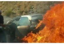 Starijem bračnom paru auto zapalio